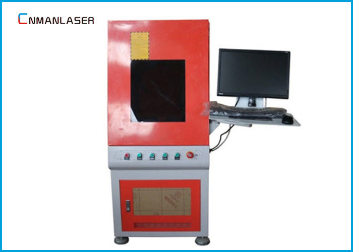 PCB Automatic QR Code Enclosed 20w Fiber Laser Engraving Machine With Computer