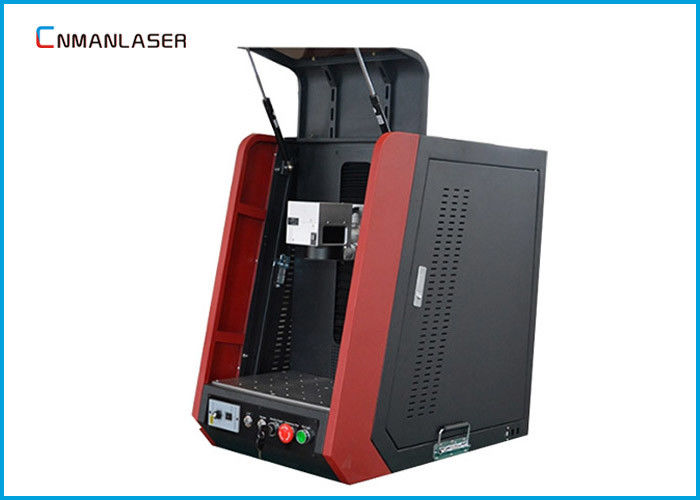 Enclosed Fiber Laser Engraver Machine , Fiber Laser Marking System For Sanitary Wares Buckles