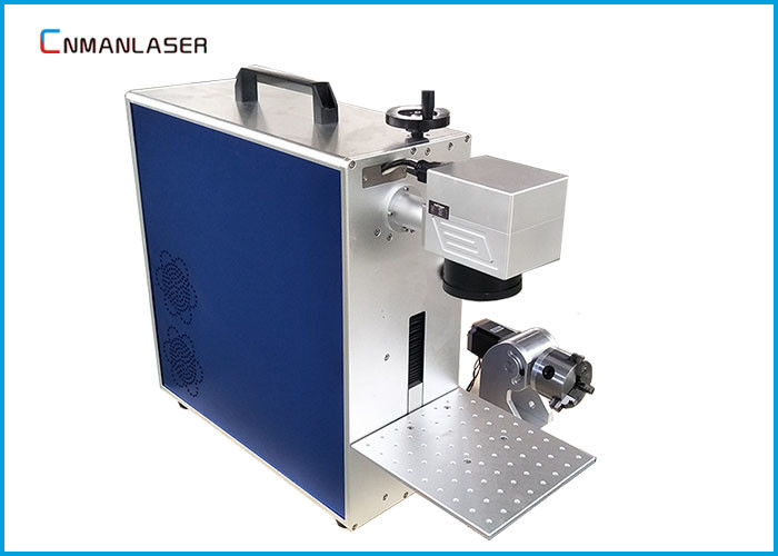 20w Alloy Pipes Metal Laser Marking Machine With Rotary Devices , Free Maintenance